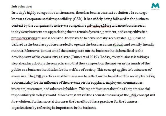 Business Assignment - Introduction