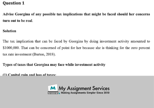 Taxation Assignment Answer