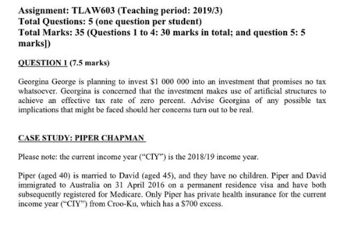 Taxation Assignment Sample