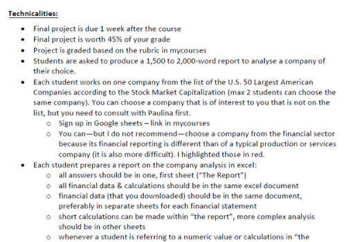 financial accounting assignment sample