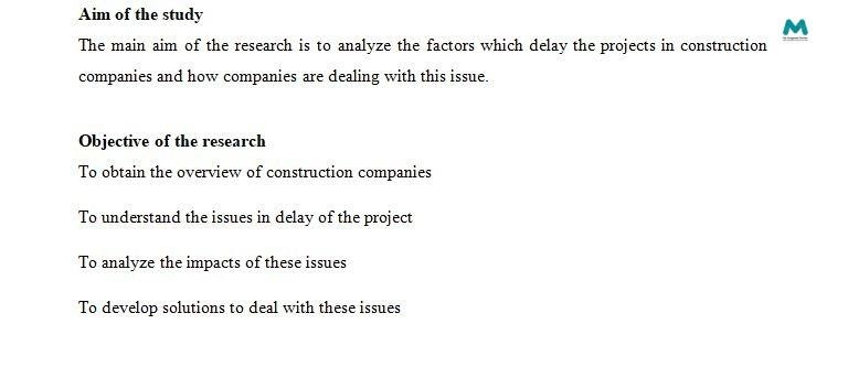 Dissertation Writing aims of study