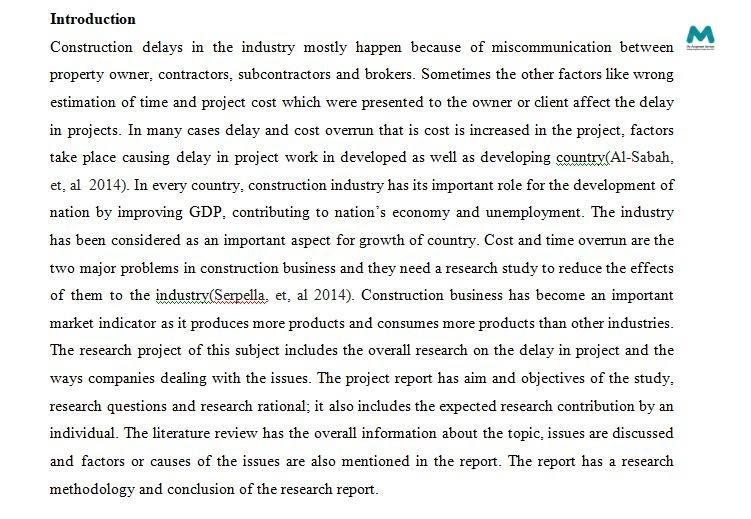 Dissertation Writing introduction