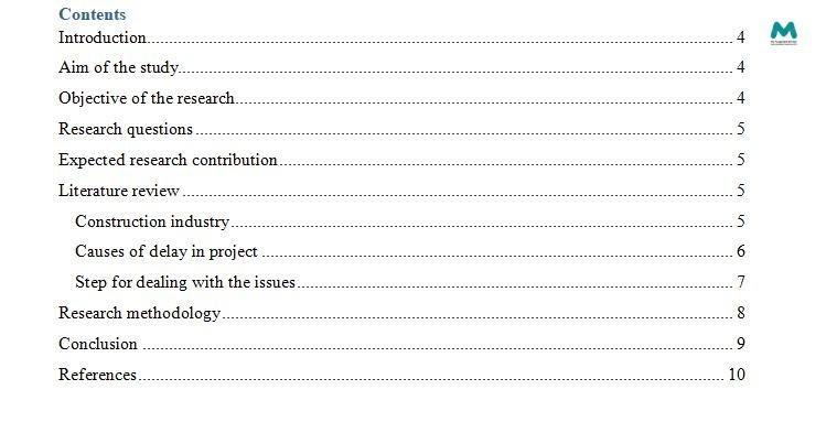 Dissertation Writing table